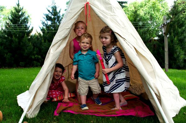 DIY Teepee for the kids