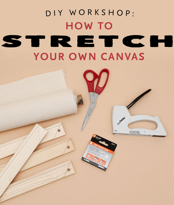 weekend diy project how to stretch your own canvas for custom art man made diy crafts for. Black Bedroom Furniture Sets. Home Design Ideas