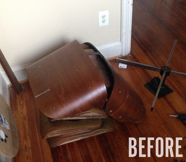 Restoring A Vintage Quot Eames Quot Lounge Chair And Ottoman Man