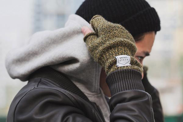 Upstate Stock Fingerless Wool Gloves