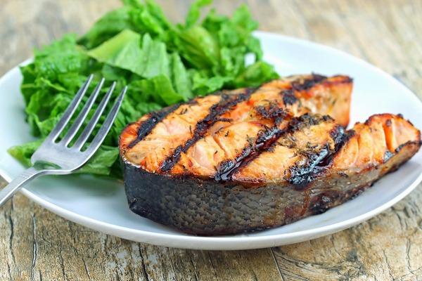Grilled Ginger Salmon Steak