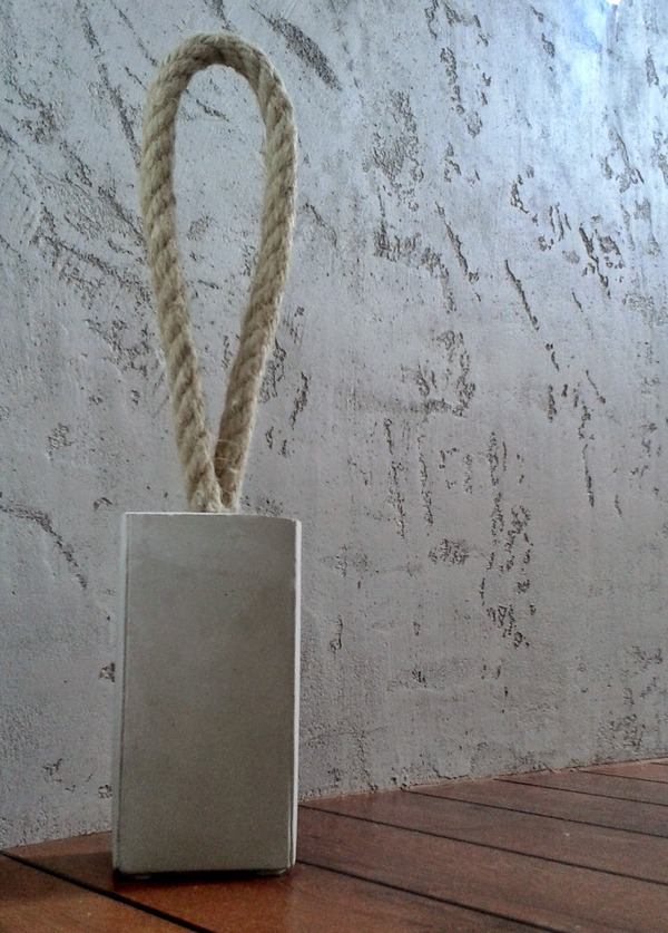 Concrete and Rope Door Stopper
