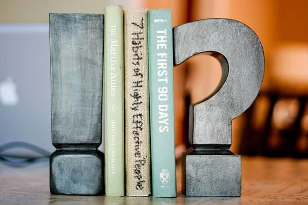 Zinc Letter Bookends