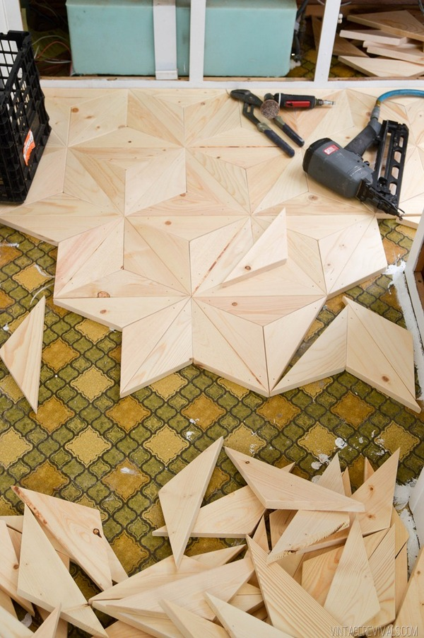 Make your own Geometric wood flooring