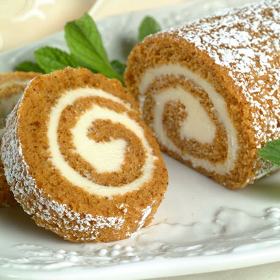 Pumpkin Roll - The icing on the holiday season