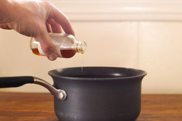 Homemade Rosemary vanilla honey simple syrup