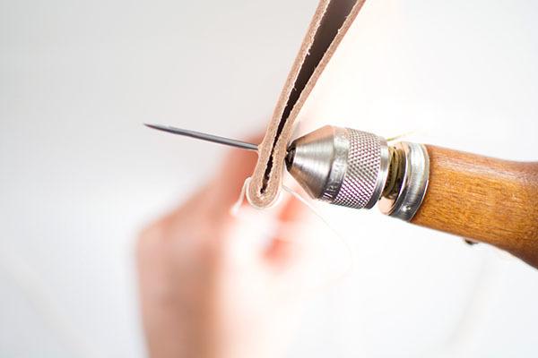 Stitching a Leather Folder