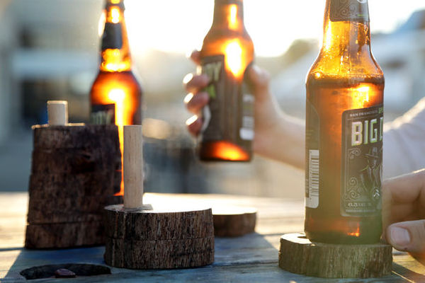 How to: Make Stackable Wooden Tree Limb Coasters