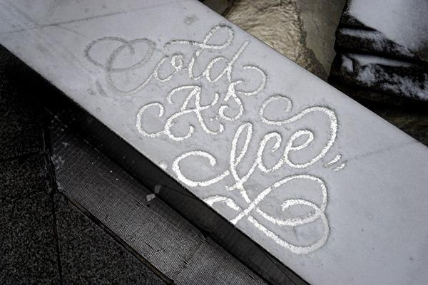 Snow Typography