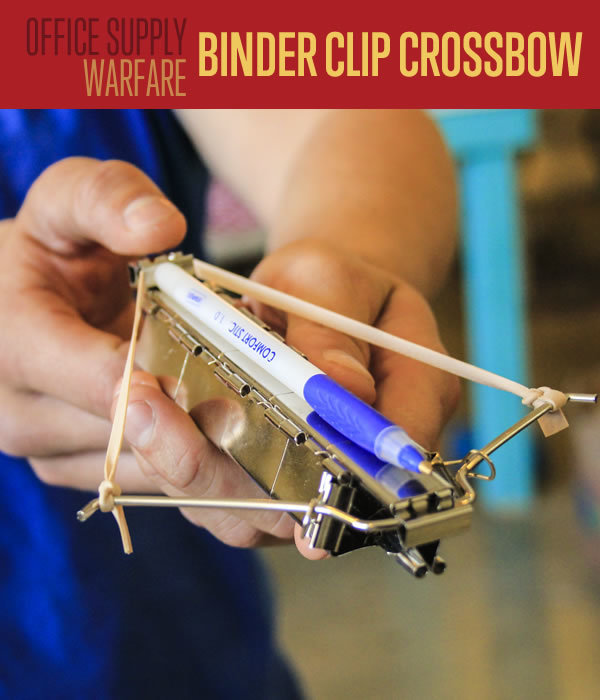 Binder clip crossbow