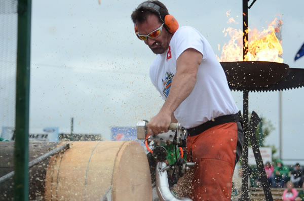 Hot sawing at the Lumberjacks World Championships