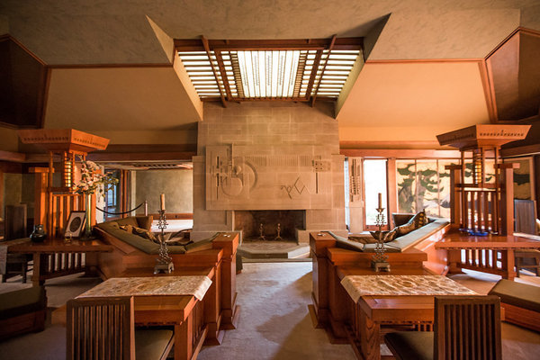 A visual tour through frank lloyd wright 39 s first la house - Frank lloyd wright architecture style ...