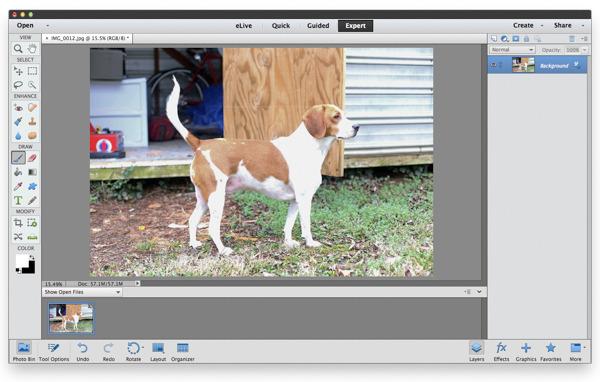 Turn a photograph into a rustic blockprint