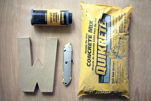 Concrete Letter Supplies