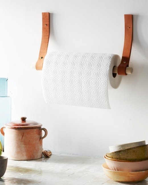 How To Make A Diy Leather And Wood Paper Towel Holder