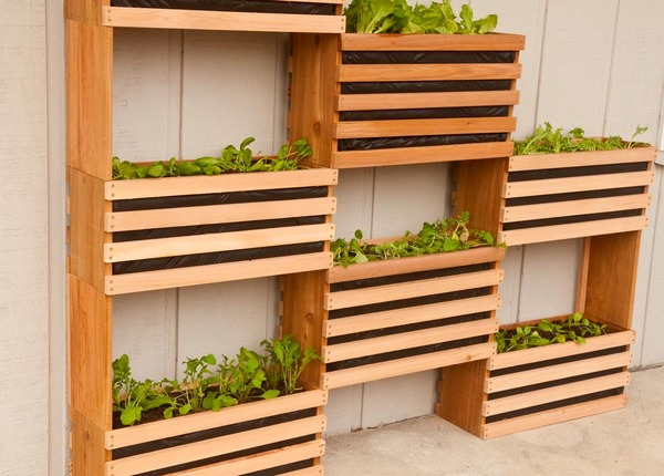 How To: Make A Modern, Space-Saving Vertical Vegetable