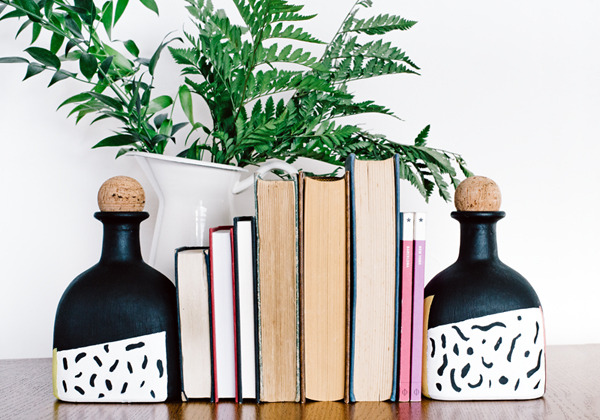 Graphic Faceted Bookends DIY