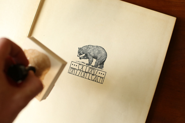 Create your own ex libris bookplate stamp