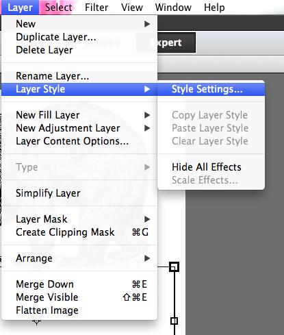 style settings