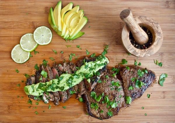 Pan Seared Rib-Eye Steak with Wasabi Cream Sauce