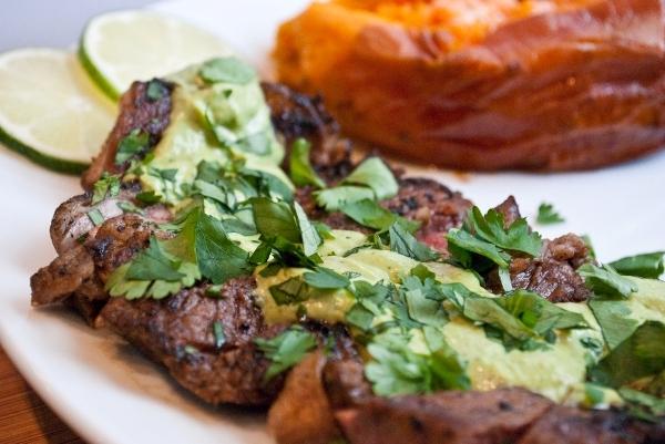 Steak with Wasabi Cream Sauce