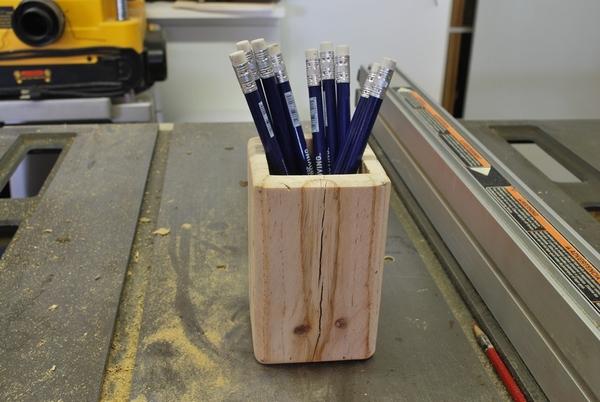 Wooden Pen Holder