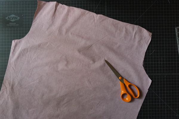 large shirt cut out