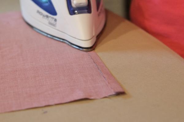 ironing a hem