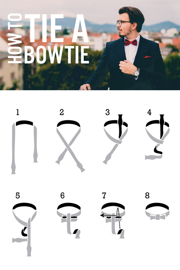 How to tie a bowtie - diagram