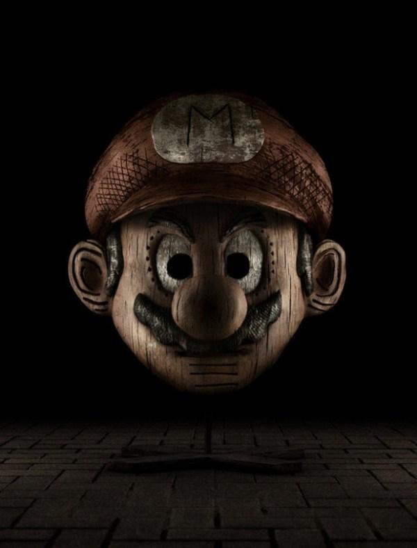 Mario Wooden Sculpture