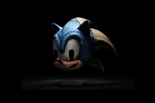 Sonic Wooden head