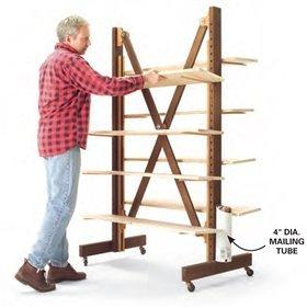 Expanding Parts Rack