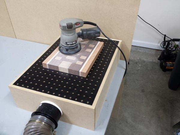 Make This Diy Downdraft Sanding Table Man Made Diy