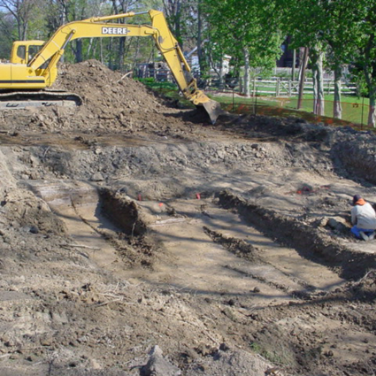 Recording Archaeological Features in a Backhoe Trench