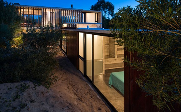 Casa de veraneio sobre as dunas