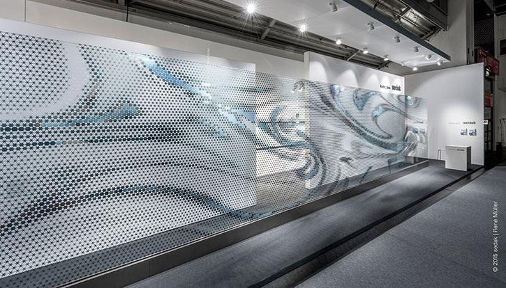 Painel de vidro isolante foi destaque na BAU 2015