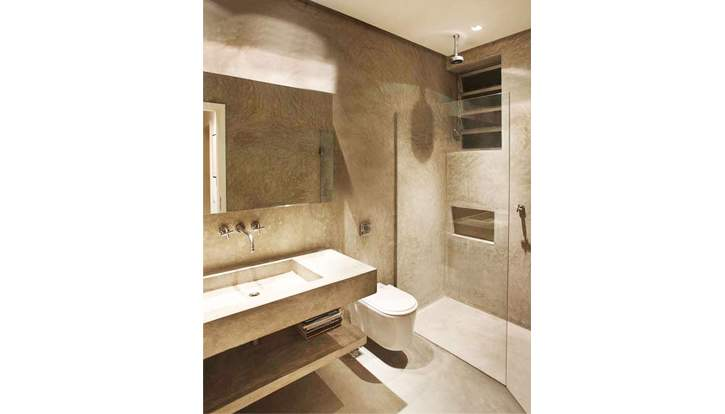 Elegância do cinza  Negócios  Mapa da Obra -> Decoracao De Banheiro Com Cimento Queimado