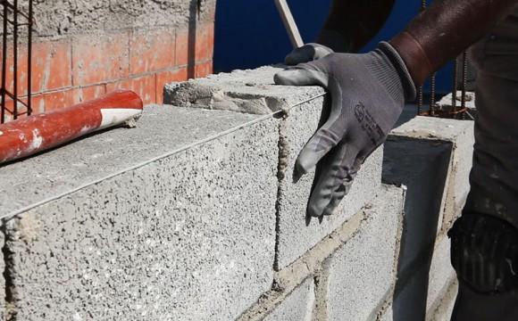 Paredes com blocos de concreto