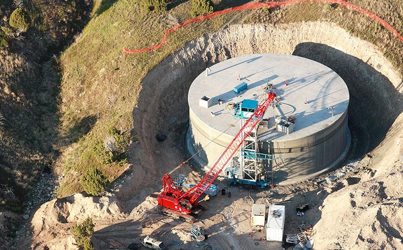 Reservatórios de concreto atendem alta demanda de armazenamento de água