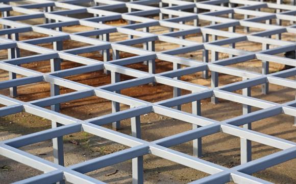 Piso elevado de concreto
