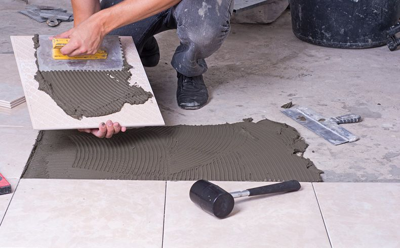 Quantidade de argamassa colante para assentar cerâmica