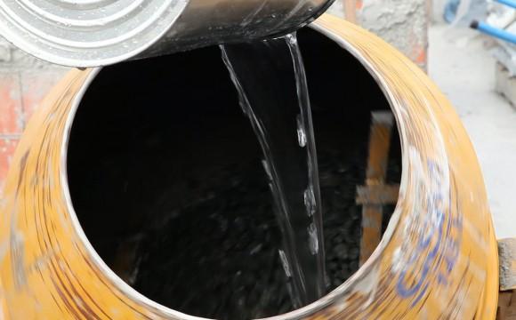 Traço de concreto: controle da água