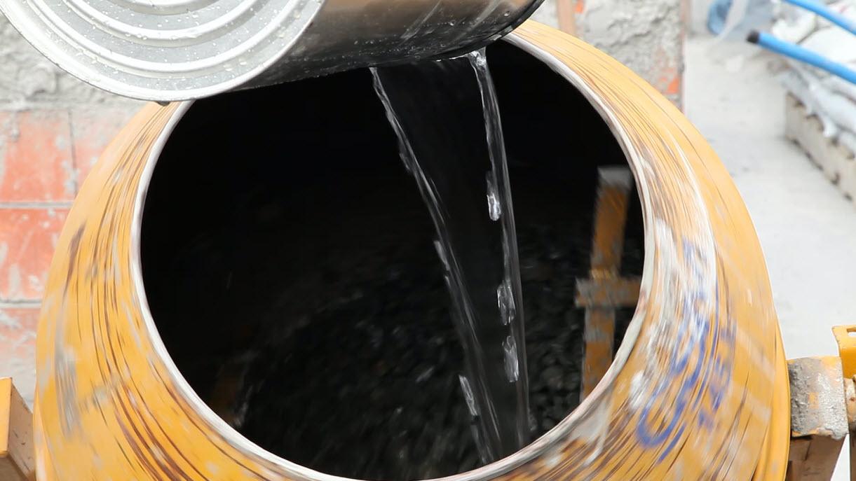 Traço de concreto: a importância do controle de água