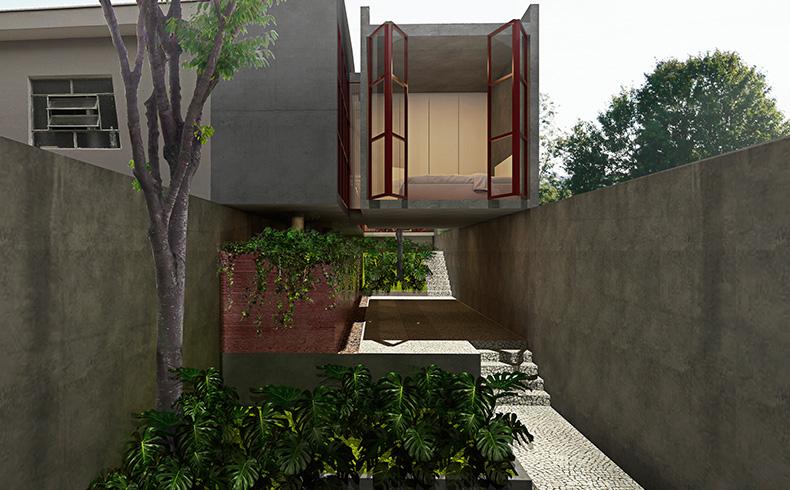 Concreto armado dá o tom a projeto residencial