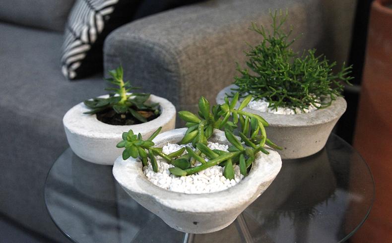 Faça você mesmo: vaso de cimento cheio de estilo