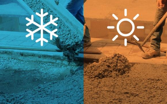 Traço de Concreto: condições climáticas