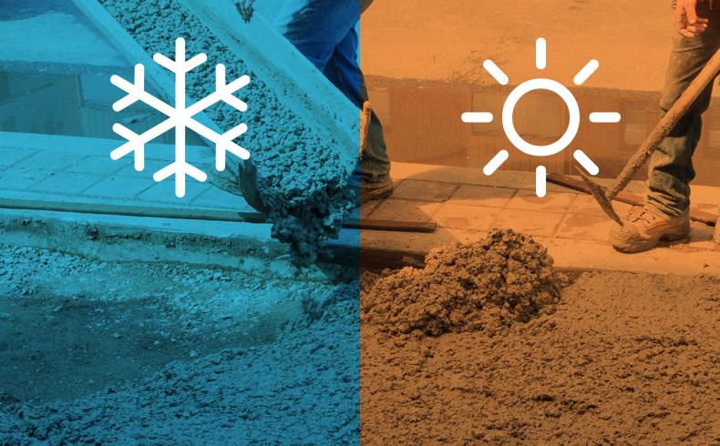 Traço de Concreto: a influência do clima