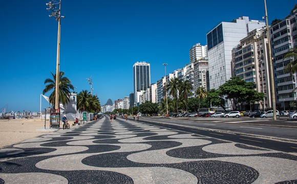 Construção de calçada