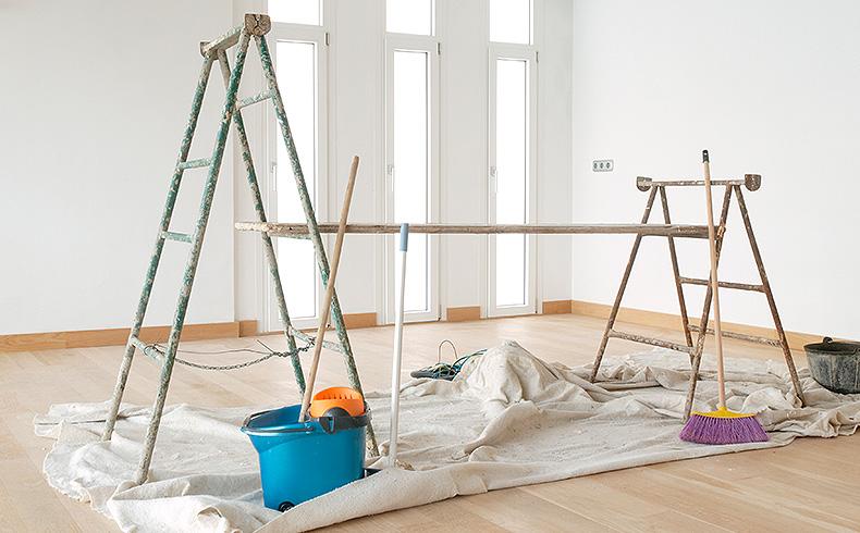 Ofereça produtos para proteção de piso durante obra