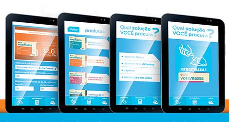 App para argamassas: Ajudante Votomassa